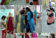 Commercial Art and textile designing students at work